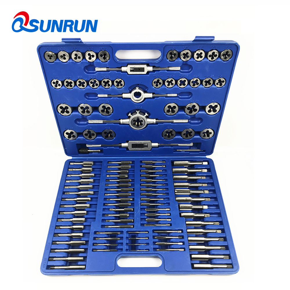 Tools : 110PCS Set Tap  amp  Die Toolkit M3-M12 M6-M20  Screw Thread Metric WrenchTaper Taps Plug Taps T-Type Tap with Wrench Handle