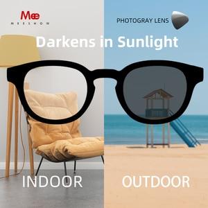 Image 4 - Meeshow fotokromik okuma gözlüğü anti UV400 erkekler paslanmaz çelik gözlükleri diyoptri okuma gözlüğü + 1.5 + 2.5 WT0340