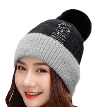 High Quality Hats For Women Warm Beanie Winter Fashion Autumn Knitted Cotton Ladies Beanie Skullies Knitted Hat Female Beanies