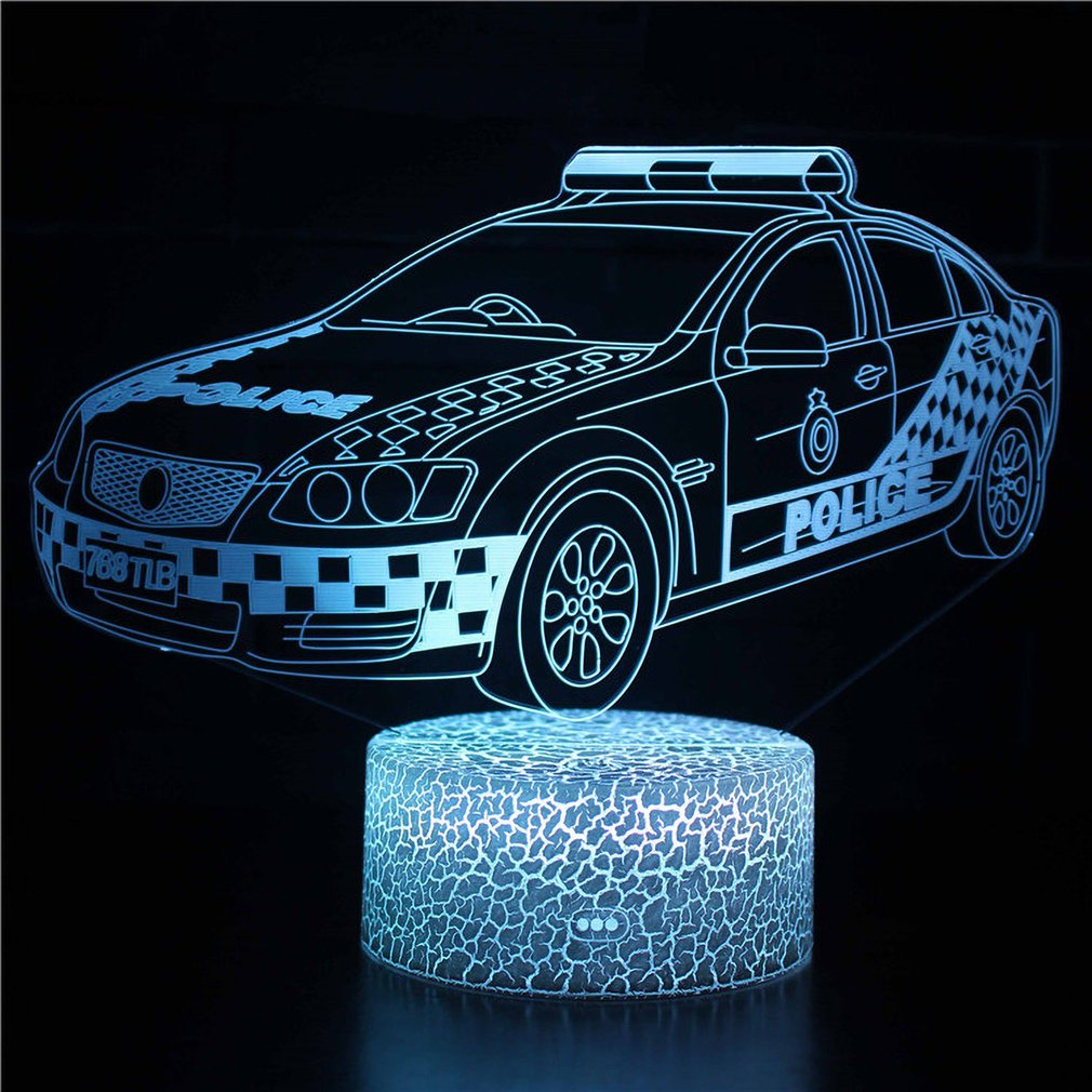 ICOCO Racing Car Series 3D LED Night Light With 7 Colors Light For Home Decoration Amazing Illusion Lamp
