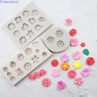 Kleine Blume Fondant Kuchen Silikon Form Kuchen Dekoration DIY Backen Blumen Rose Chrysantheme Daisy Schokolade Form Seife Form