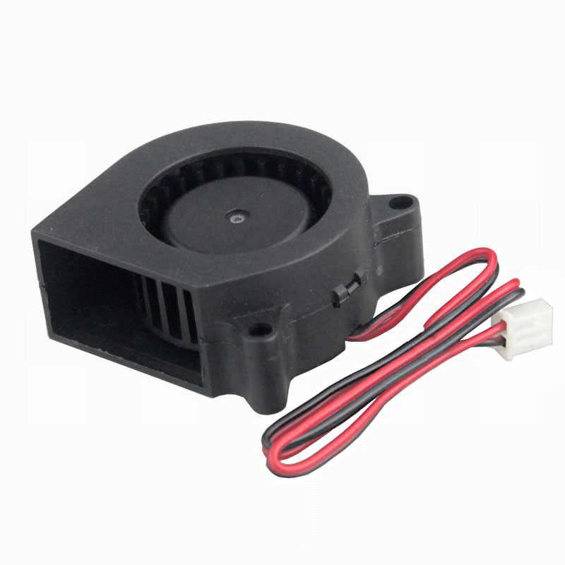2 stücke Gdstime 3D drucker fan 40mm 4020 Turbo gebläse 24V 12V 5V Doppel ball hülse lüfter 40x40x20mm für 3D drucker kühler