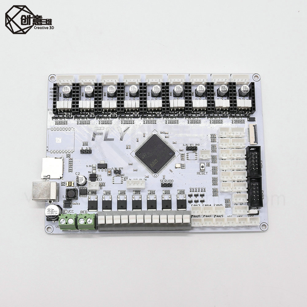 Marlin 2.0 32-bit ARM Cortex-M4 Series 168 MHz, STM32F407ZGT6 Chip Motherboard Supports 6 Extrusion 9 Independent Motor Drives