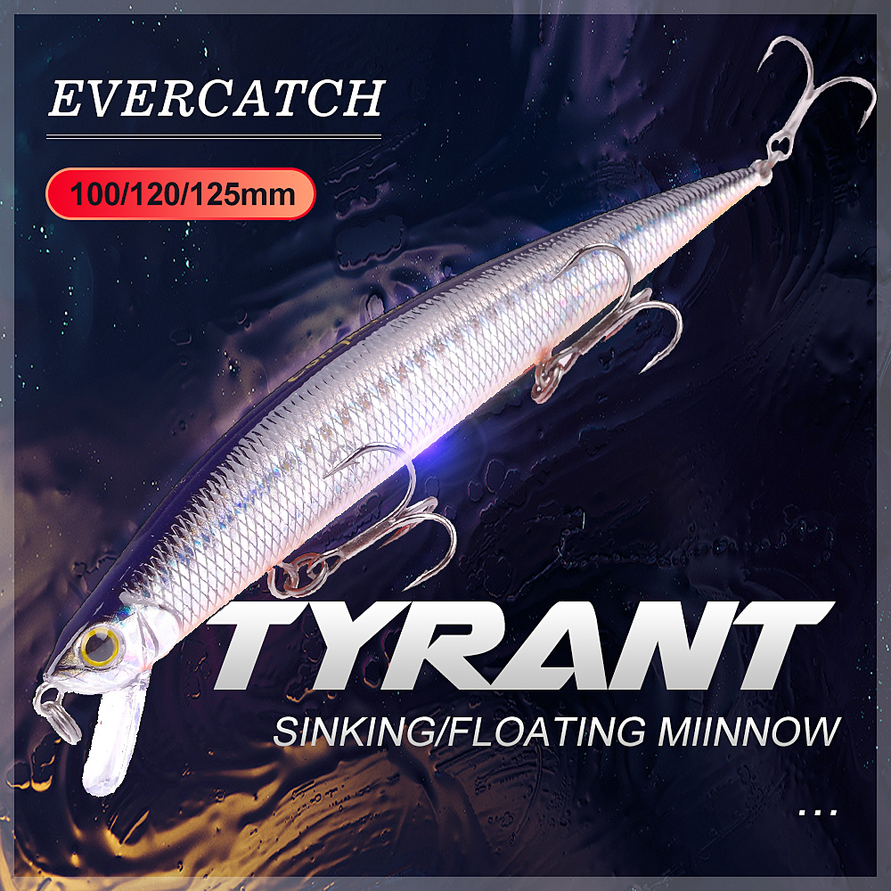 Evercatch Tyrant Jerk Crankbaits 15g Sinking Chatterbait 16g Floating Wobblers Artificial Bait For Bass Pike Fishing Tackle Lure