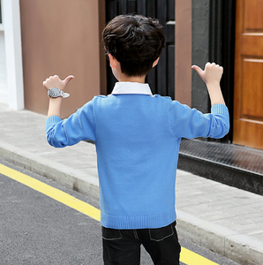 Image 4 - Boys Sweaters Autumn Winter Pullovers Sweater Kids Clothes Children Clothing Warm Outwear Boys Sweaters Teen Casual Costume