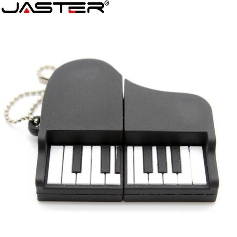 JASTER Cartoon Silicone Piano USB Flash Drive Pen Drive 4GB 8GB 16GB 32GB 64GB USB 2.0 Pendrive Music Instrument Memory Stick