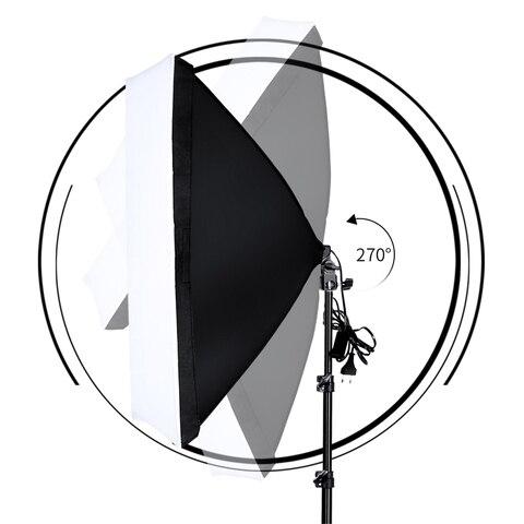 Photography Softbox Lightbox Kit 2 PCS E27 LED Photo Studio Camera Lighting Equipment 2 Softbox & Light Stand with Carry Bag Lahore