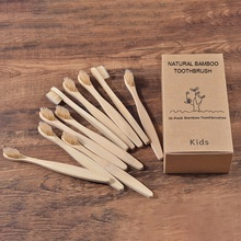10PC Kids Soft Bristles Bamboo Toothbrush eco friendly Childrens Toothbrushes Biodegradable Plastic-Free Oral Care Tooth Brush