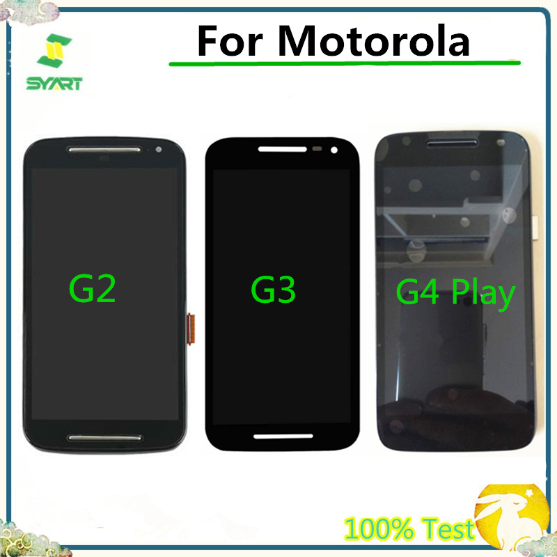 100% Tested LCD Display With Touch Screen Digitizer Assembly For Motorola Moto G2 XT1063 XT1064 G3 XT1544 G4 Play XT1601 XT1602 image