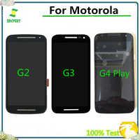 100% getestet LCD Display Mit Touch Screen Digitizer Montage Für Motorola Moto G2 XT1063 XT1064 G3 XT1544 G4 Spielen XT1601 XT1602