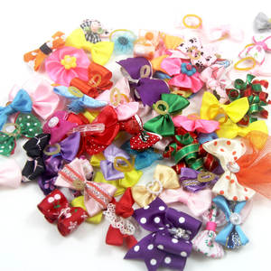 Toy Clothes-Decoration Necktie Rubber-Bands Puppy Mixed-Hair-Bows Pet Dog Cat Kitten
