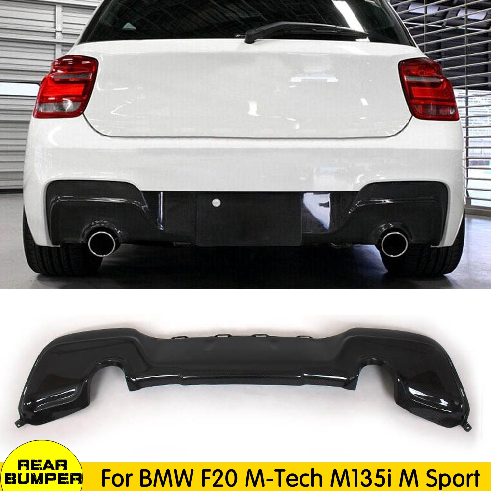 F20 Carbon Fiber Rear Diffuser Lip for BMW 1 Series F20 M-Tech M Sport Hatchback Only M135I Bodykits Bumper Spoiler Protector image