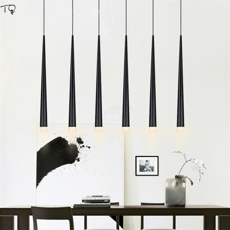 Nordic Modern Metal Tube Led Hanging Lamp Black Meteor Lights Industrial Living Room Kitchen Cafe Iron Pendant Lights Luminaire in Pendant Lights from Lights Lighting