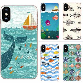 Для Apple iPhone 4 4S 5 5C 5S SE 6 6S 7 8 11 Plus Pro X XS Max XR простые чехлы для телефонов Fish Rapala Cat And Fish