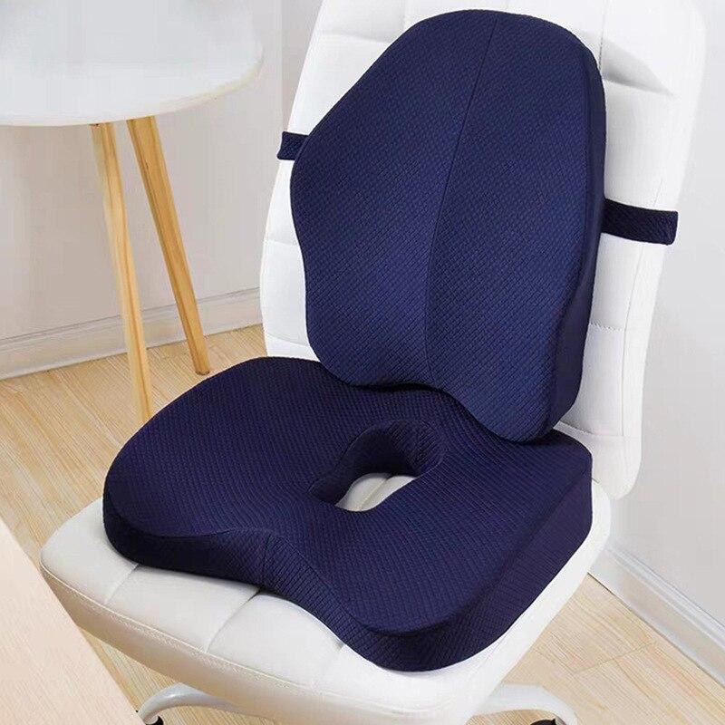 Pamięć piankowa poduszka do siedzenia poduszka ortopedyczna poduszka na krzesło biurowe poduszki lędźwiowe fotelik samochodowy Butt hemoroidy kręgi ogonowe zestawy