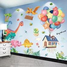 [SHIJUEHEZI] Dinosaur Animals Wall Stickers DIY Cartoo Balloons Mural Decals for Kids Rooms Baby Bedroom Nursery Home Decoration