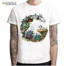 Japanese Anime Totoro Shirt Men Studio Ghibli Miyazaki Hayao Spirit Away T Women Cartoon Clothes Summer T-Shirt
