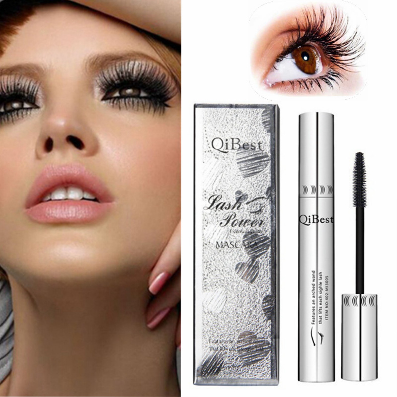 Black mascara 4d thick and long eye mascara waterproof silver tube silicone brush mascara professional cosmetics image