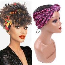 Wig-Caps Headband Hair-Bun Braid Crochet Afro-Hair Making Diy for Cross-Knotted