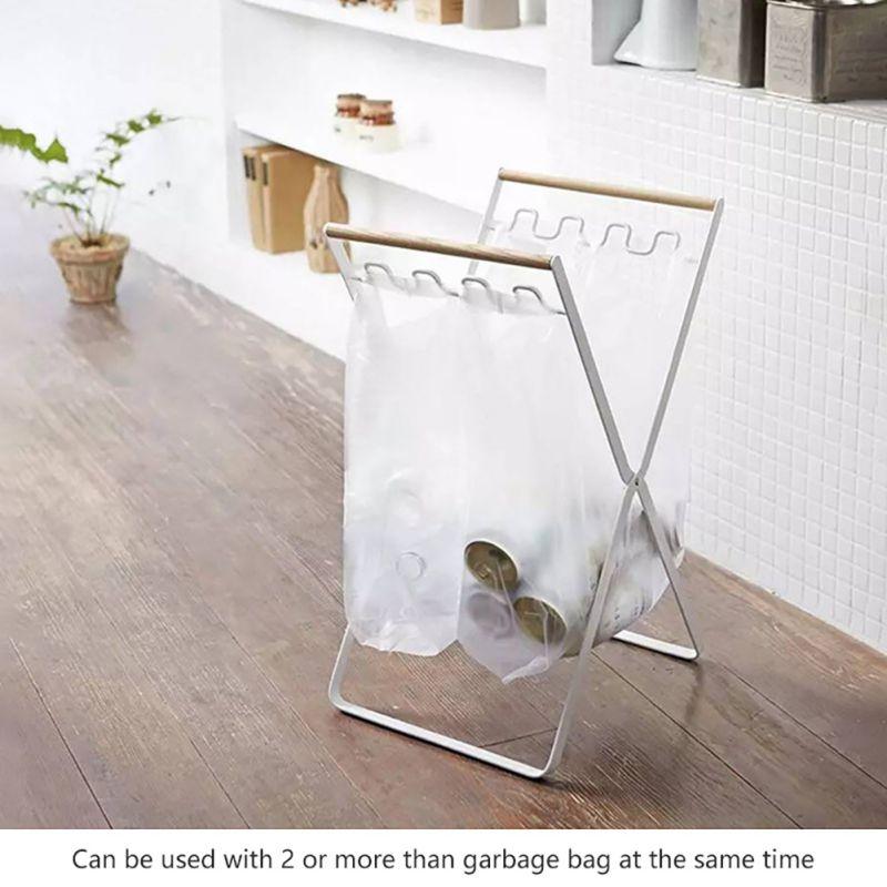 Складная подставка для мусора, гостиная, балкон, сумка для мусора, кронштейн из кованого железа, кухонный стеллаж для хранения, аксессуары
