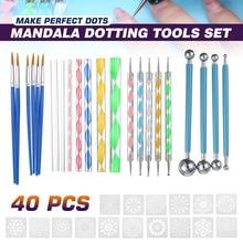74 шт. набор инструментов для точек Мандала для рисования камней керамика портативный многофункциональный набор точек для тиснения Набор ин...