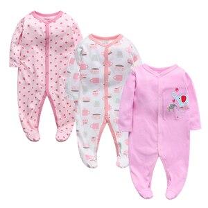 Image 2 - 3 adet/grup Bebek Giyim Yenidoğan tulumlar Bebek Erkek Kız Romper Giysileri Uzun Kollu Bebek Ürün 2019 yeni Bebek Giysileri