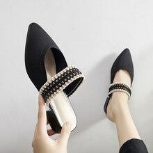 Женские шлепанцы; коллекция года; туфли без задника на квадратном каблуке с закрытым носком; женская обувь; модные новые роскошные шлепанцы с острым носком; женская обувь