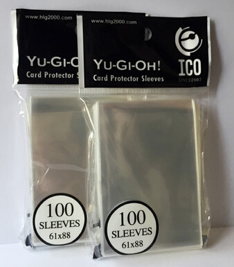 1/300/600pcs 61x88mm Card Sleeves Clear Cards Protector Barrie For Yu-Gi-Oh Yu Gi Oh Small Size Board Game OCG Sleeve