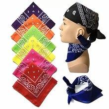 Moda feminina algodão bandana lenço quadrado feminino bandanas 55cm * 55cm headwear rock meninas cabeça cachecol acessórios para o cabelo