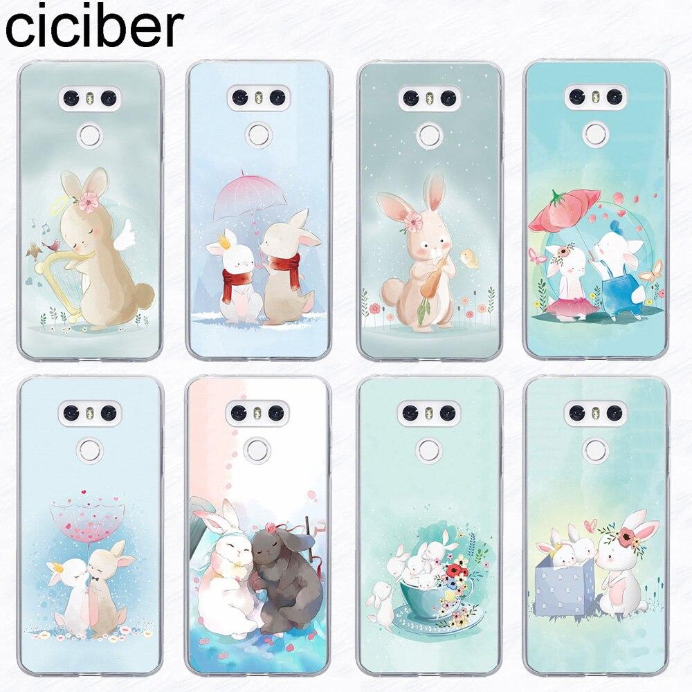 Phone Case For LG G6 G7 V20 V30 V35 V40 THINQ Soft TPU For LG K8 K7 K10 K4 K9 K11 2017 2018 Plus Rabbits Fundas Case TPU