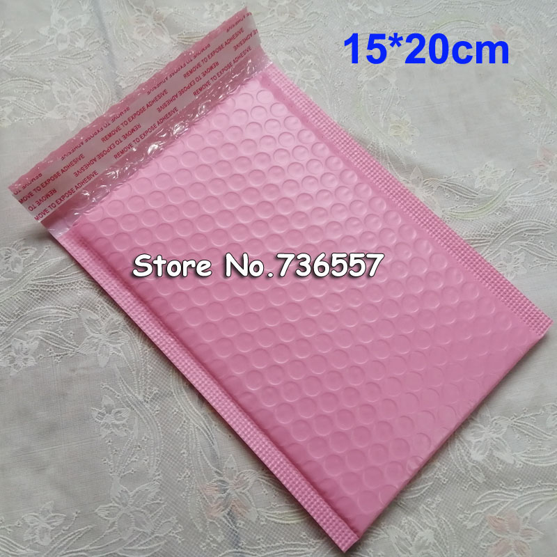 50pcs Poly Bubble Mailers 5.9x7.8 Inch/15*20cm Bubble Envelopes Purple Bubble Lined Poly Mailer Pink Bags 18*23cm