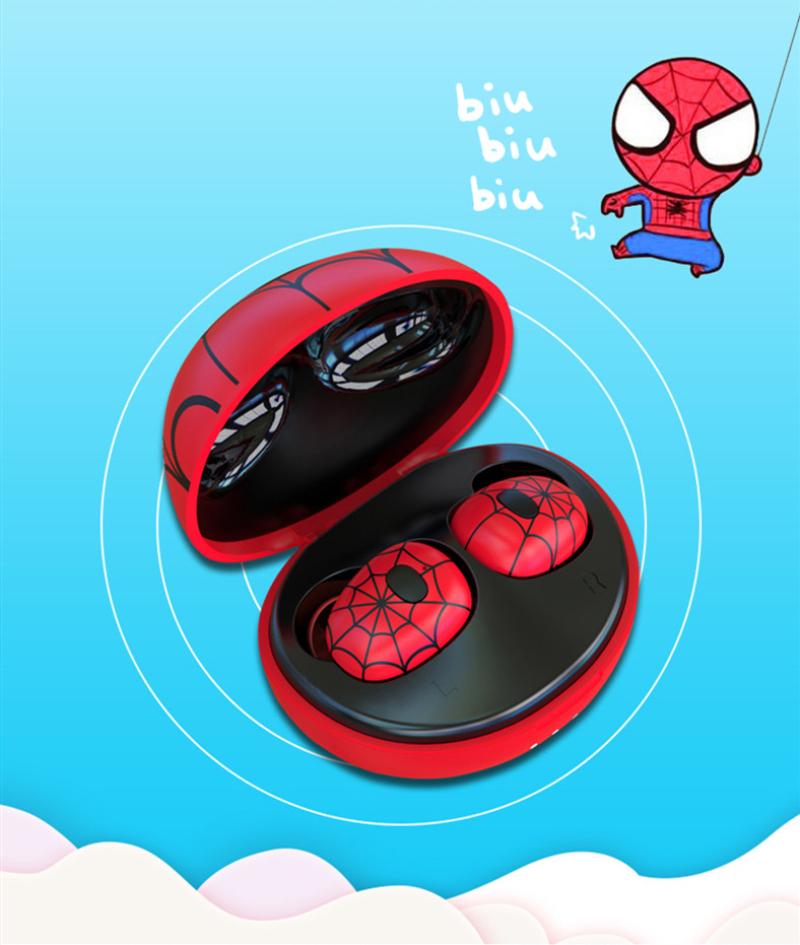 Disney Marvel Spider Man Tws Wireless Bluetooth Headset Real Wireless Stereo Headset Charging Box Bluetooth 5 0 Headset Earphones Aliexpress