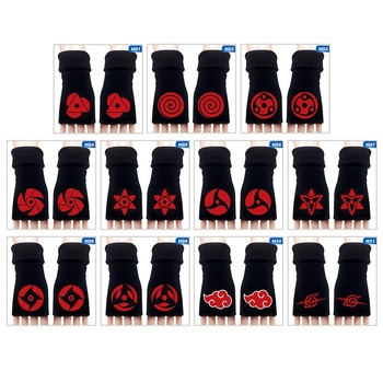 Autumn Winter Fashion Half Fingerless Gloves Anime Naruto Cosplay Warm - discount item  8% OFF Gloves & Mittens