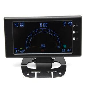 """Image 4 - 5 """"LCD 6 in 1 Mehrere Funktionen LCD Auto Auto Gauge Meter Volt Uhr RPM Wasser Temp Öl Temp öl Druck Auto Gauge Voltmeter"""