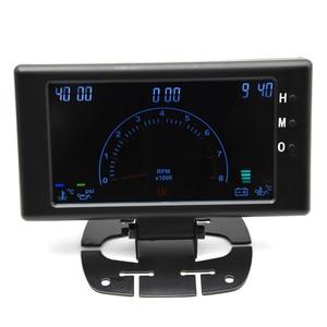 """Image 4 - 5 """"LCD 6 in 1 çok fonksiyonlu LCD otomatik araba ölçer ölçer volt saat RPM su sıcaklığı yağ sıcaklığı yağ basıncı araba ölçer voltmetre"""
