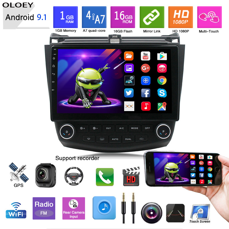 Android 9.1 Car Radio 2G+32G Multimedia Player Head Unit <font><b>For</b></font> Car 7 2004-2007 <font><b>GPS</b></font> Navigation Autoradio 2 din Wifi image