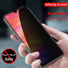 Anti-Peeping Tempered Glass For Xiaomi Redmi Note7 Pro K20 Mi9 se CC9 e screen Protector Anti Glare note7 glass