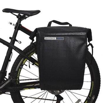 US Stock Waterproof Bicycle Saddle Bag Road Mountain Bike Cycling Rear Rack Bag Luggage Pannier Rear Seat Shelf Bag Dropshipping