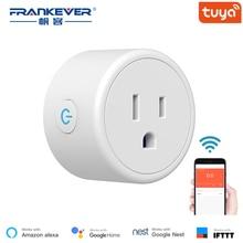 FrankEver мини США Wi-Fi разъем с стабилизатором напряжения 110-240 В Голосовое управление умная розетка работает с Alexa Google Home Tuya APP