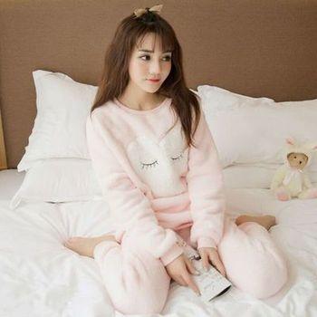 Ropa de hogar para Mujer Pijamas de terciopelo para Mujer Pijamas de Invierno traje para casa Nuisette Femme cálido Pijamas ropa para el hogar