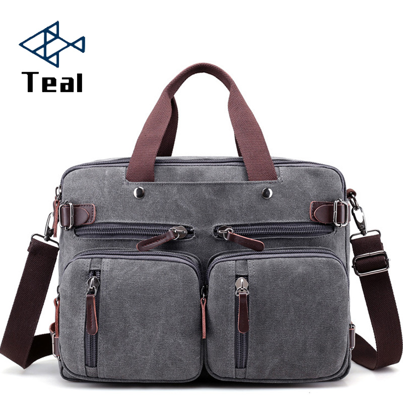 2020 Men Canvas Bag Canvas Briefcase Travel Suitcase Messenger Shoulder Tote Handbag Large Casual Business Laptop Multifunction