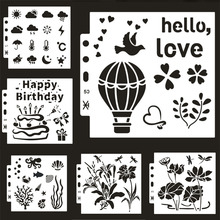Painting Template Journal-Accessories Decor Scrapbooking Cake Stencil Embossing-Album