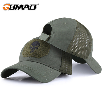 Hiking Caps Adjustable Breathable Mesh Skull Cap Tactical Military Camo Airsoft Sun Visor Trucker Hat Hunting Baseball Snapback - discount item  40% OFF Sportswear & Accessories