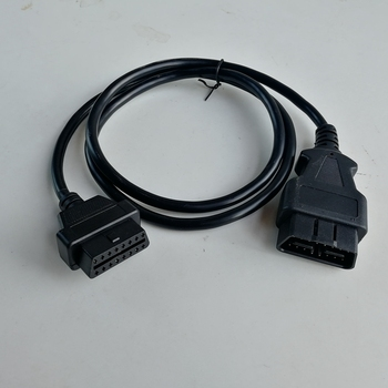 1.25m Universal 16Pin to 16Pin OBD OBD2 OBDII Diagnostic Adapter Connector Cable for all obd2 car 16pin to 16pin Extension cable image