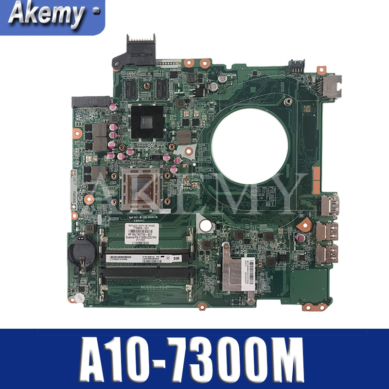 DAY21AMB6D0 REV:D Laptop Motherboard FOR HP PAVILION 17-F Series Mainboard Notbook PC A10-7300M CAN FIT DAY23AMB6F0 REV:F