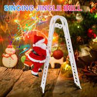 Music Christmas Santa Claus Electric Climb Ladder Hanging Decoration Christmas Tree Ornaments Funny New Year Kids Gifts