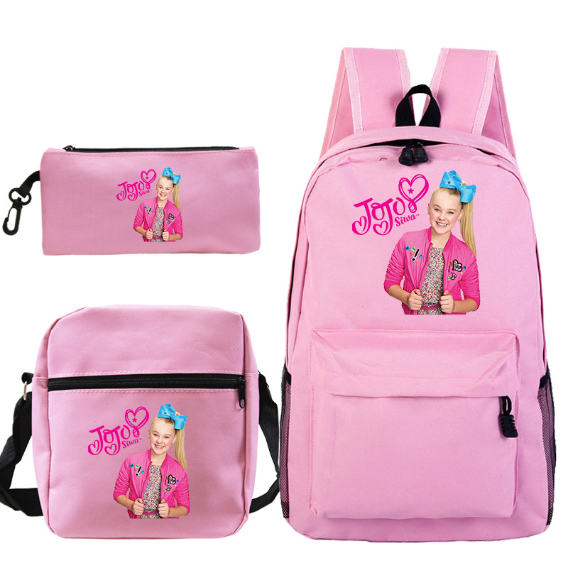 Cute Jojo Siwa Casual Backpack Students Daily Rucksack Fashion New Bags For Teens Beautiful Men Women Travel Knapsac
