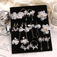 FNIO 2021 Neue Blume Böhmen Boho Ohrringe Frauen Mode Lange Hängen Ohrringe Kristall Weibliche Hochzeit Ohrringe Partei Schmuck