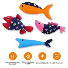 4Pcs Cat Catnip Toys for Playing Chewing Teeth Cleaning Creative Pillow Pet Grinding Chew Squeaky Product
