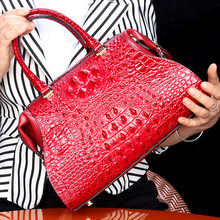 Crocodile Woman Package Genuine Leather Handbag Oblique Satchel Single Shoulder Bag Ma'am High Archives New Design Fashion Women